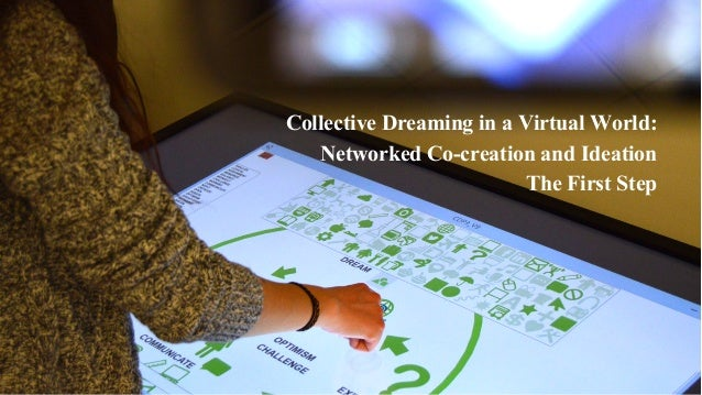 Collective Dreaming in a Virtual World: Networked Co-creation and Ideation The First Step