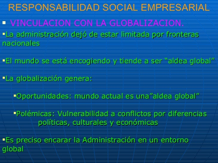 Responsabilidad Social Empresarial - Resumen Teórico
