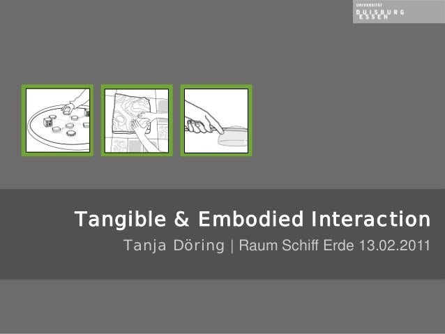 Tanja Döring | Raum Schiff Erde 13.02.2011 Tangible & Embodied Interaction