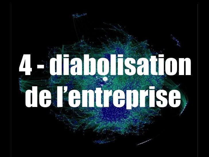 <ul><li>4 - diabolisation de l'entreprise  </li></ul>