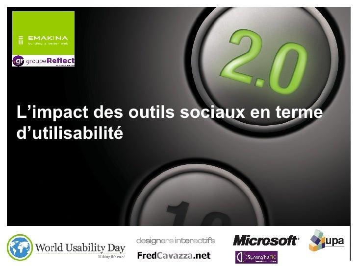 L'impact des outils sociaux en terme d'utilisabilité
