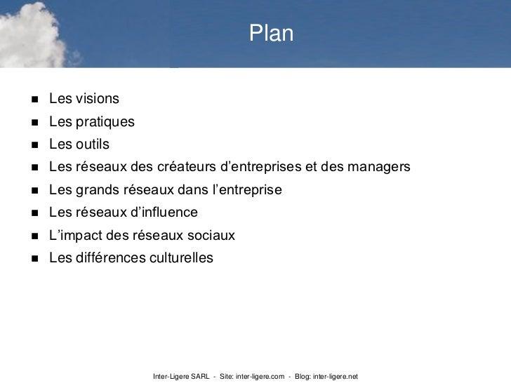 Plan   Les visions   Les pratiques   Les outils   Les réseaux des créateurs d'entreprises et des managers   Les grand...