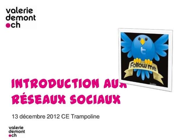 Introduction auxréseaux sociaux13 décembre 2012 CE Trampoline