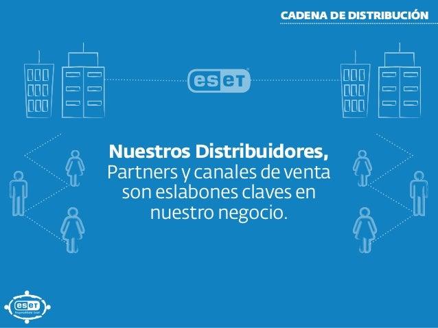 CADENA DE DISTRIBUCIÓN Nuestros Distribuidores, Partners y canales de venta son eslabones claves en nuestro negocio.