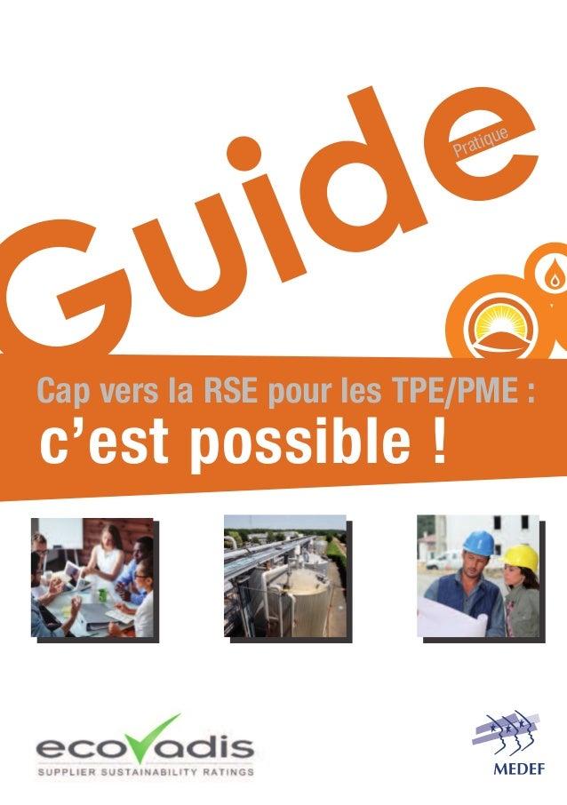 Cap vers la RSE pour les TPE/PME : c'est possible ! Pratique