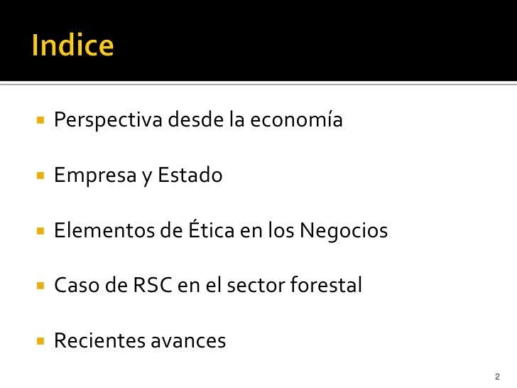    Perspectiva desde la economía   Empresa y Estado   Elementos de Ética en los Negocios   Caso de RSC en el sector fo...