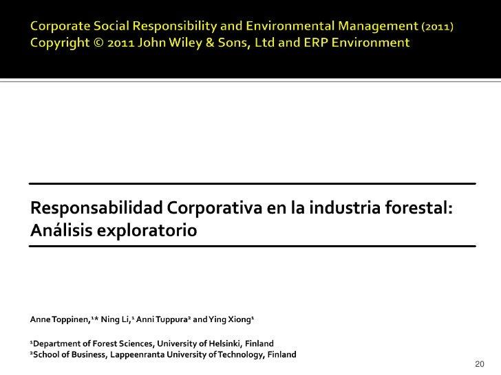    Consolidar un sustentable nivel de utilidades: una necesidad de    sobrevivencia para la industria forestal, pero no e...