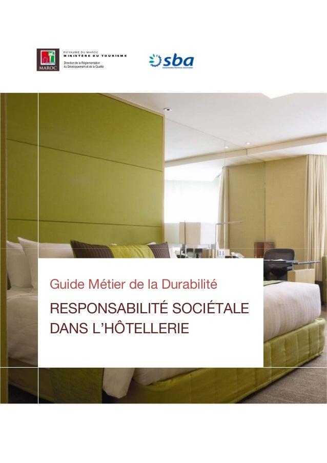 guide m tier de la durabilit responsabilit soci tale dans l 39 h tel. Black Bedroom Furniture Sets. Home Design Ideas