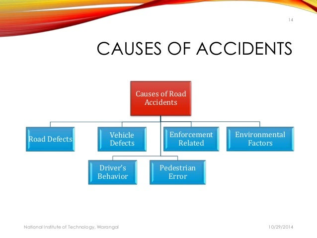 the causes of road accidents in (march 2006) road traffic accidents—the leading cause of death by injury and the tenth-leading cause of all deaths globally—now make up a surprisingly significant.