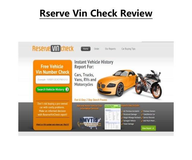 Rserve Vin Check Review