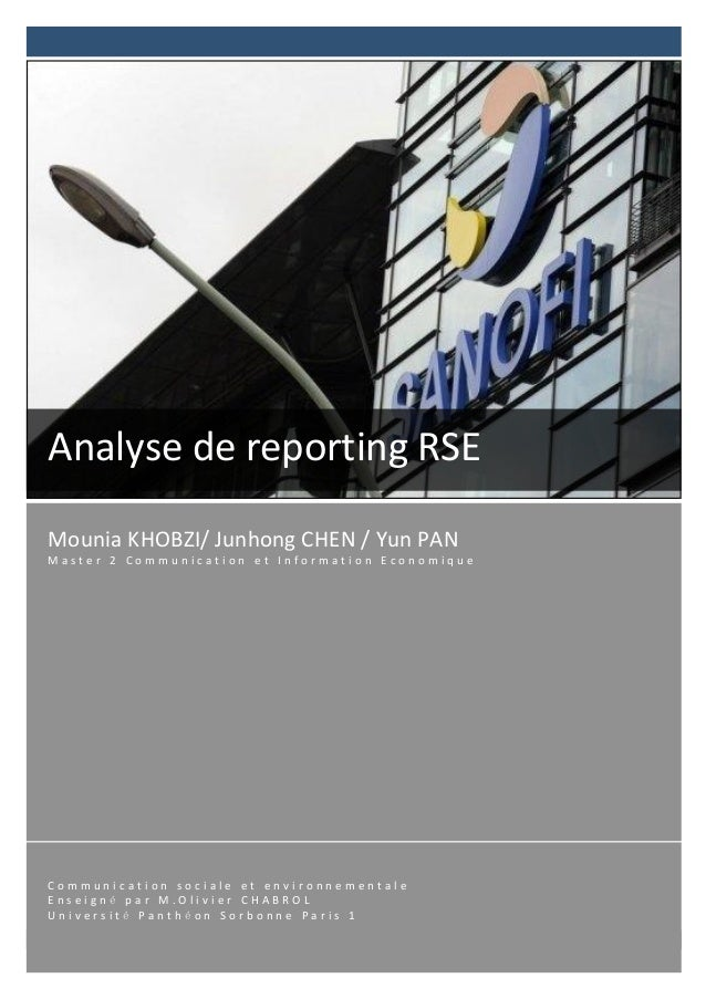 Analyse	  de	  reporting	  RSE	  Mounia	  KH...