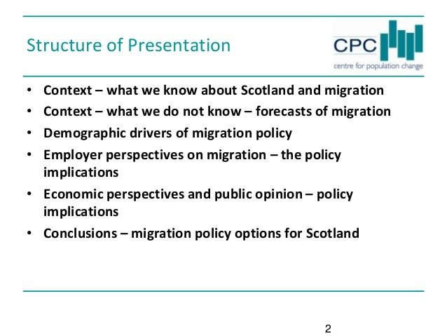 Should Scotland have its own immigration policy? The Politicians and the Professionals Seminar Series - Migration Slide 2