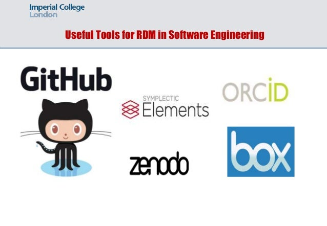 Useful Tools for RDM in Software Engineering