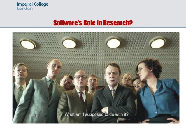 Software's Role in Research?