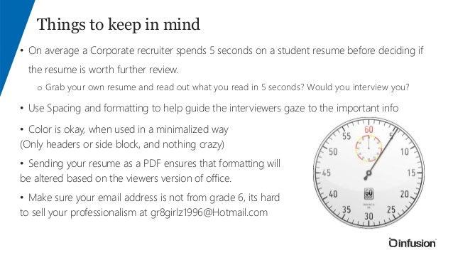 resume tips tricks