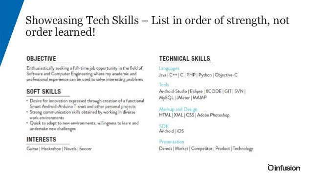 Using White Space To Guide Your Eye; 6. Showcasing Tech Skills U2013 List ...  Technical Skills List For Resume