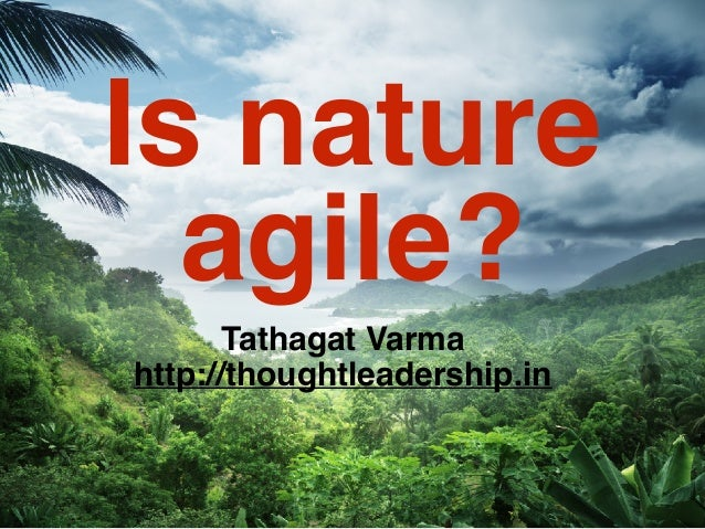 Is nature agile? Tathagat Varma http://thoughtleadership.in