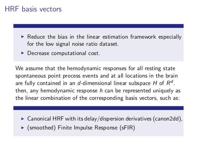 Estimating the hemodynamic response function from resting