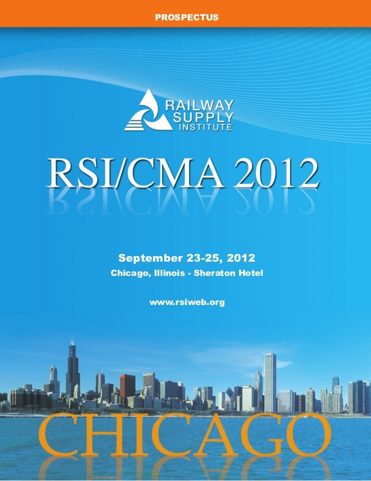 PROSPECTUS September 23-25, 2012Chicago, Illinois - Sheraton Hotel        www.rsiweb.org
