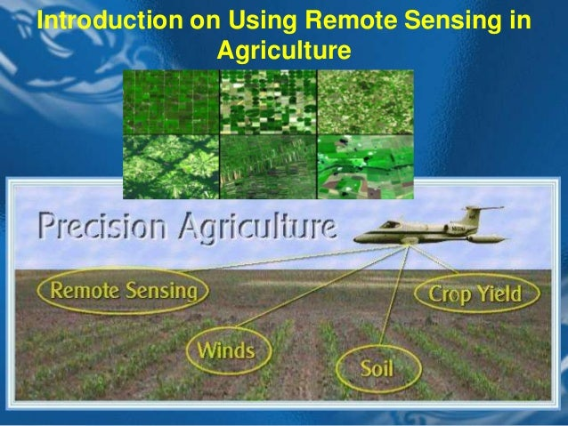 Operational Agriculture Monitoring System Using Remote Sensing