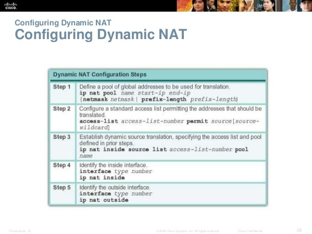 Configuring Dynamic NAT  Configuring Dynamic NAT  Presentation_ID © 2008 Cisco Systems, Inc. All rights reserved. Cisco Co...