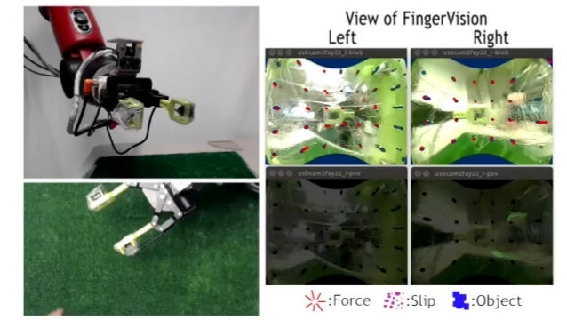 How to Use FingerVision in Learning Grasping? Grasping (picking up) structure: Grasp Pose Estimator(vision-based) Deciding...