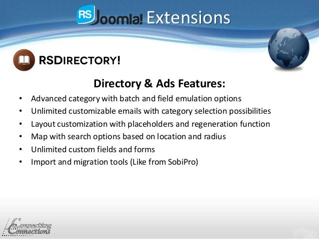 Extensions Directory & Ads Features: • Advanced category with batch and field emulation options • Unlimited customizable e...