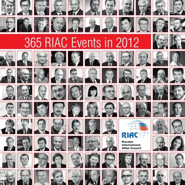 365 RIAC Events in 2012                   RIAC                   Russian                   International                  ...