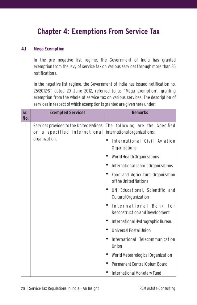 RSM India - Service Tax Regulations In India-An Insight (2013)