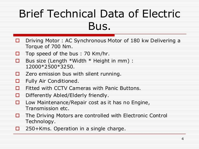 Bus karo electric bus trial in dtc session v for 80kw ac synchronous electric motor