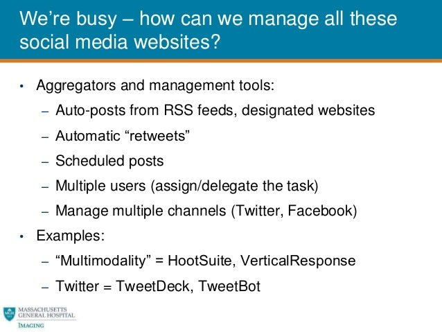 Social Media for Radiology Practice Management - Garry Choy