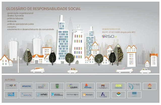 GLOSSÁRIO DE RESPONSABILIDADE SOCIAL . governação organizacional . direitos humanos . práticas laborais . ambiente . práti...
