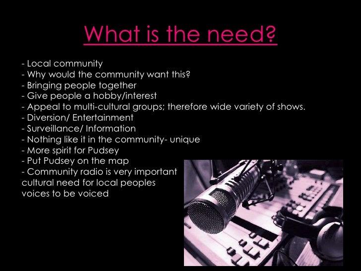 Proposal for establishing a radio station