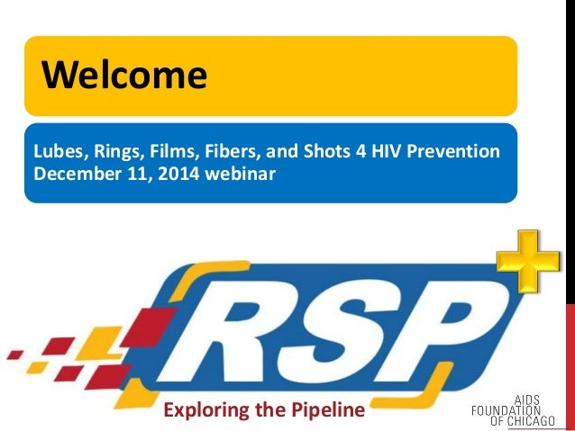 Welcome  Lubes, Rings, Films, Fibers, and Shots 4 HIV Prevention  December 11, 2014 webinar  Exploring the Pipeline