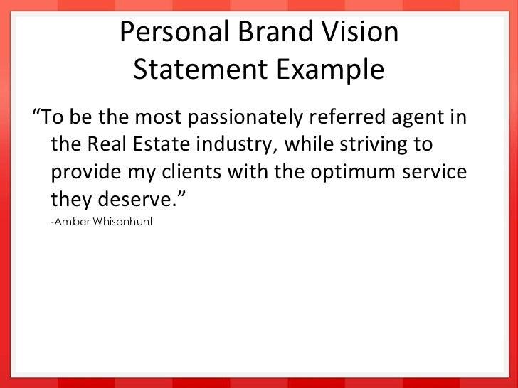 personal vision statement pdf