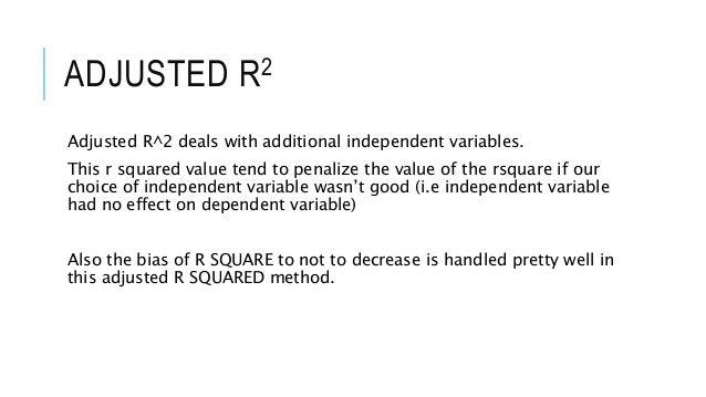 negative adjusted r squared
