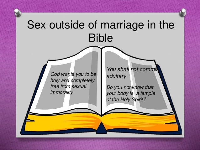 Bible teachings sex before marriage