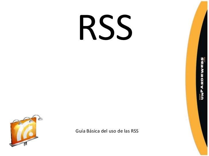 RSSGuía Básica del uso de las RSS