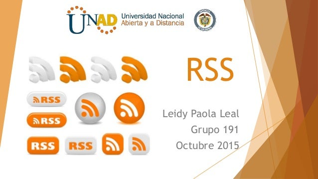 RSS Leidy Paola Leal Grupo 191 Octubre 2015