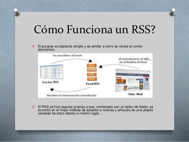 Que es un RSS, como funciona y para que se utiliza Slide 3