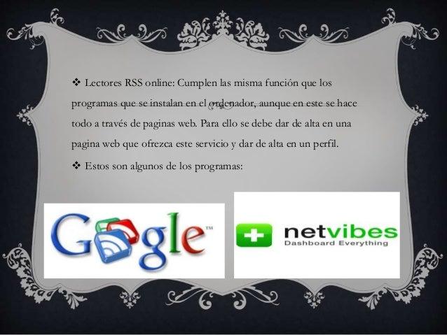  Lectores RSS en tu navegador web o programa de correo electrónico: Algunos de los navegadores y clientes de correo mas c...