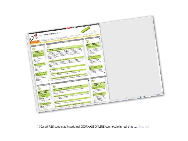 I Canali RSS sono stati inseriti nel GIORNALE ONLINE con notizie in real time ...  clicca qui
