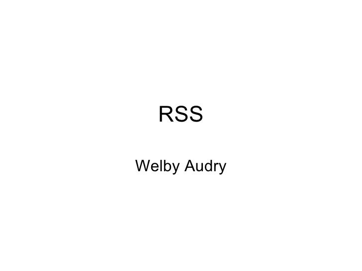 RSS Welby Audry