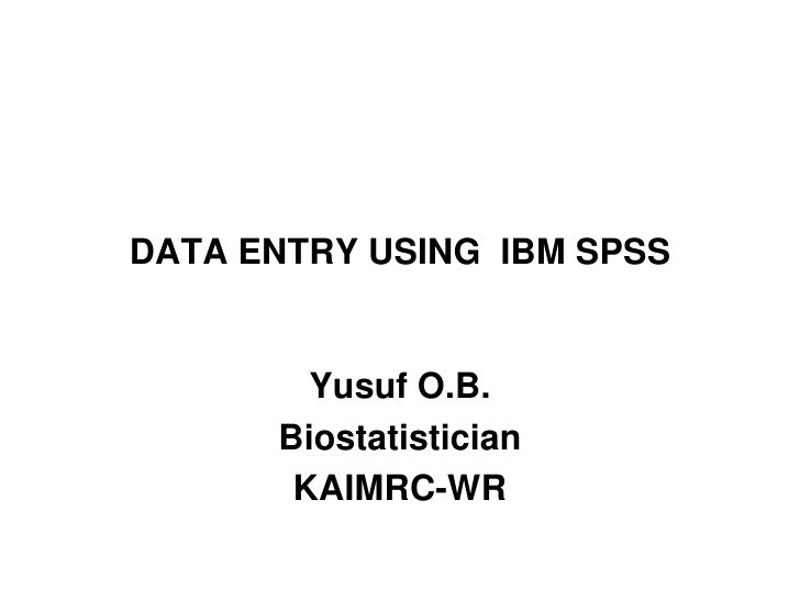 RSS 2012 Data Entry SPSS