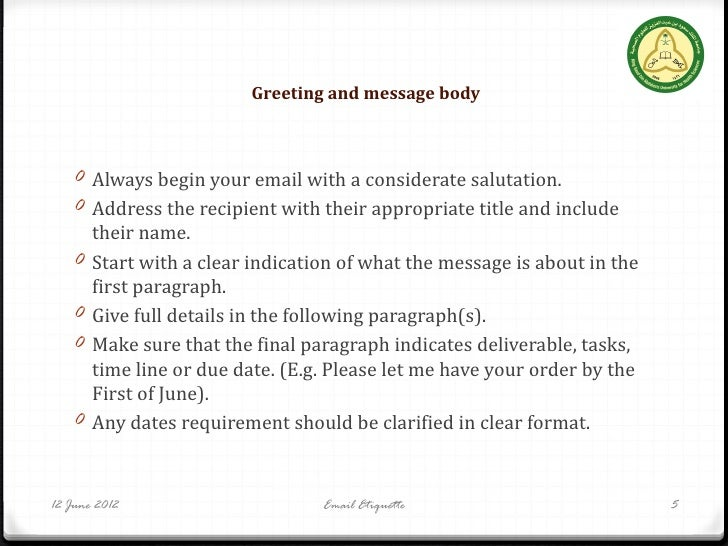 Online dating email etiquette