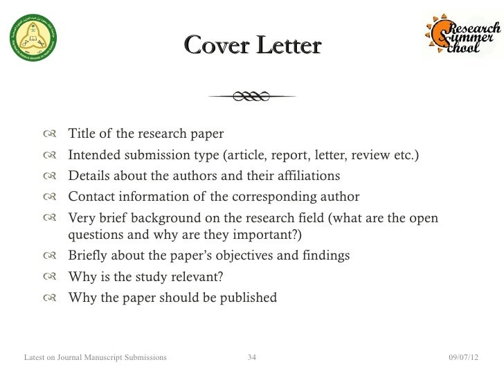 Cover letter for medical journal article submission