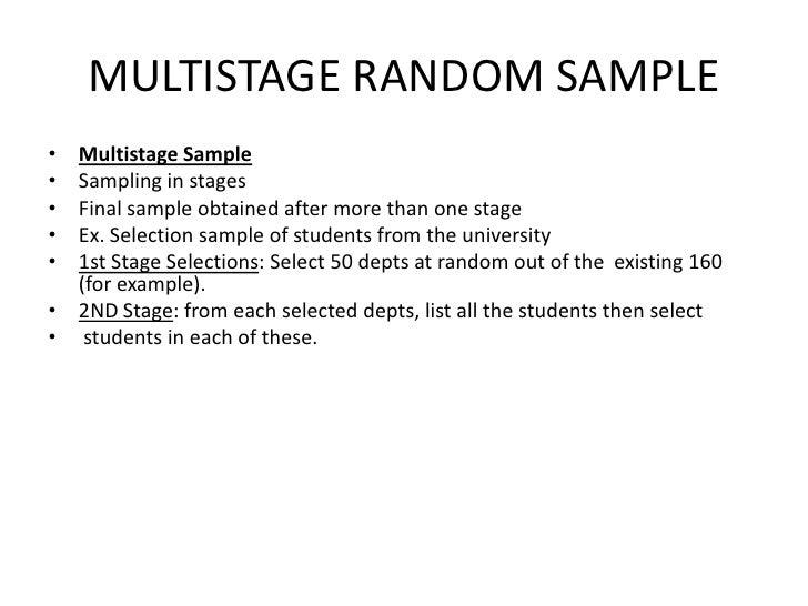 Multistage Sampling
