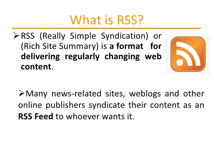Rss and email alerts Slide 3