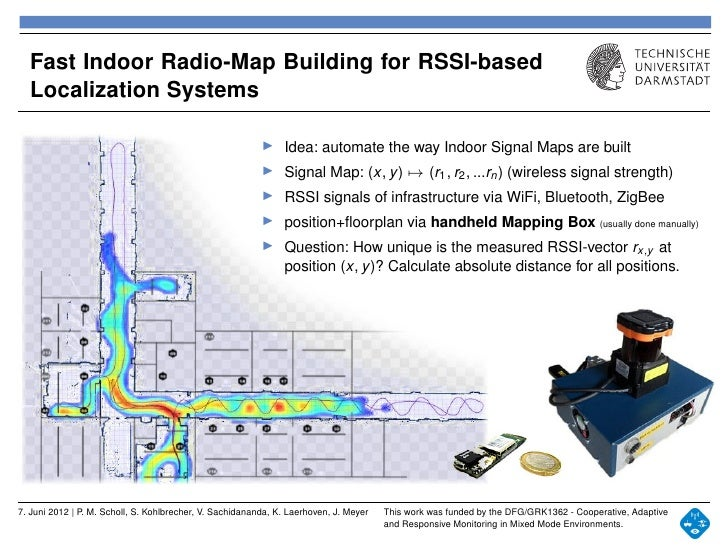 Fast Indoor RSSI Mapping For Wireless Indoor Localization - Wireless signal map