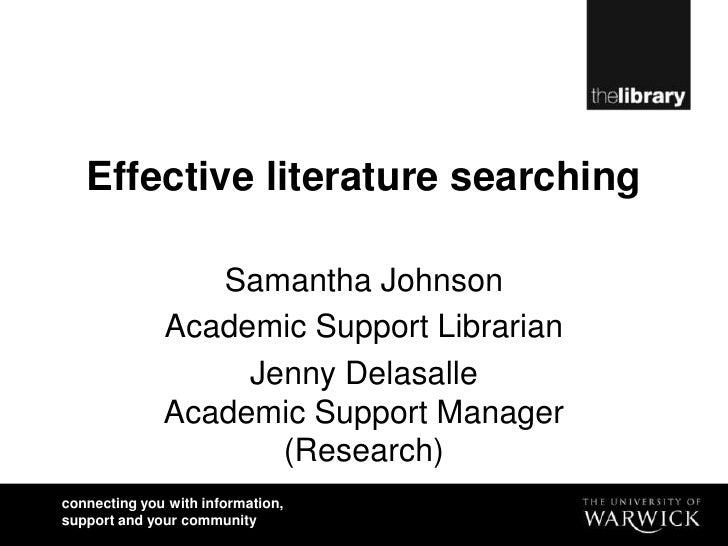Rssp nov2010 effective literature searching1
